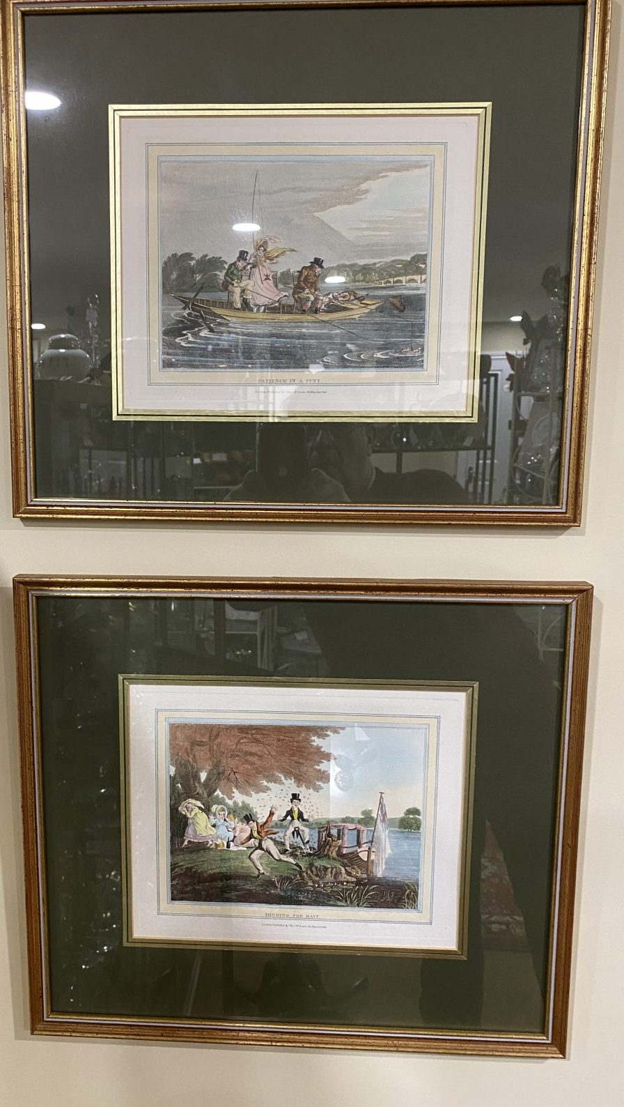 G4 - 2 from a set of 5, 19c fishing prints by Thomas McLean (1788-1875). Set of 5 £125 or £30 each