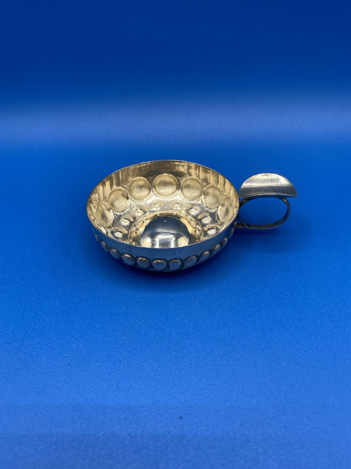 G3 - A Small Silver Tastevin, continental 800 grade silver.  £48