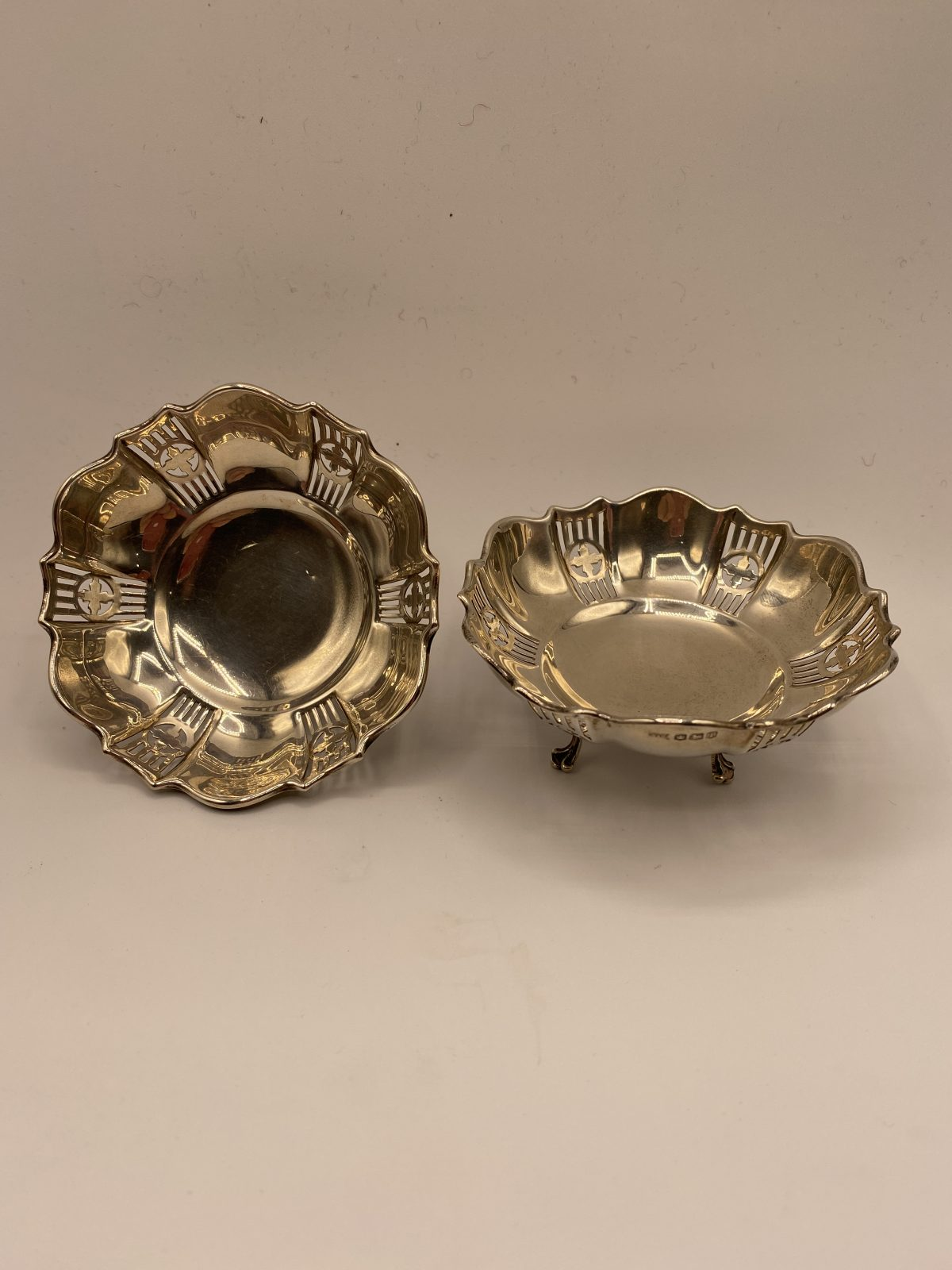 G3 - A Pair of Silver Bonbon Dishes, Sheffield 1927.  £124
