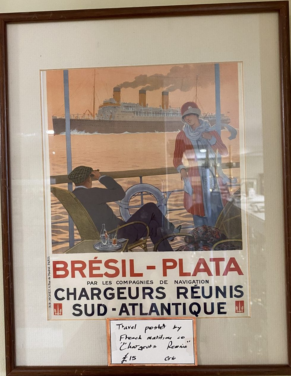 G6 - A Framed French Travel poster.  £15