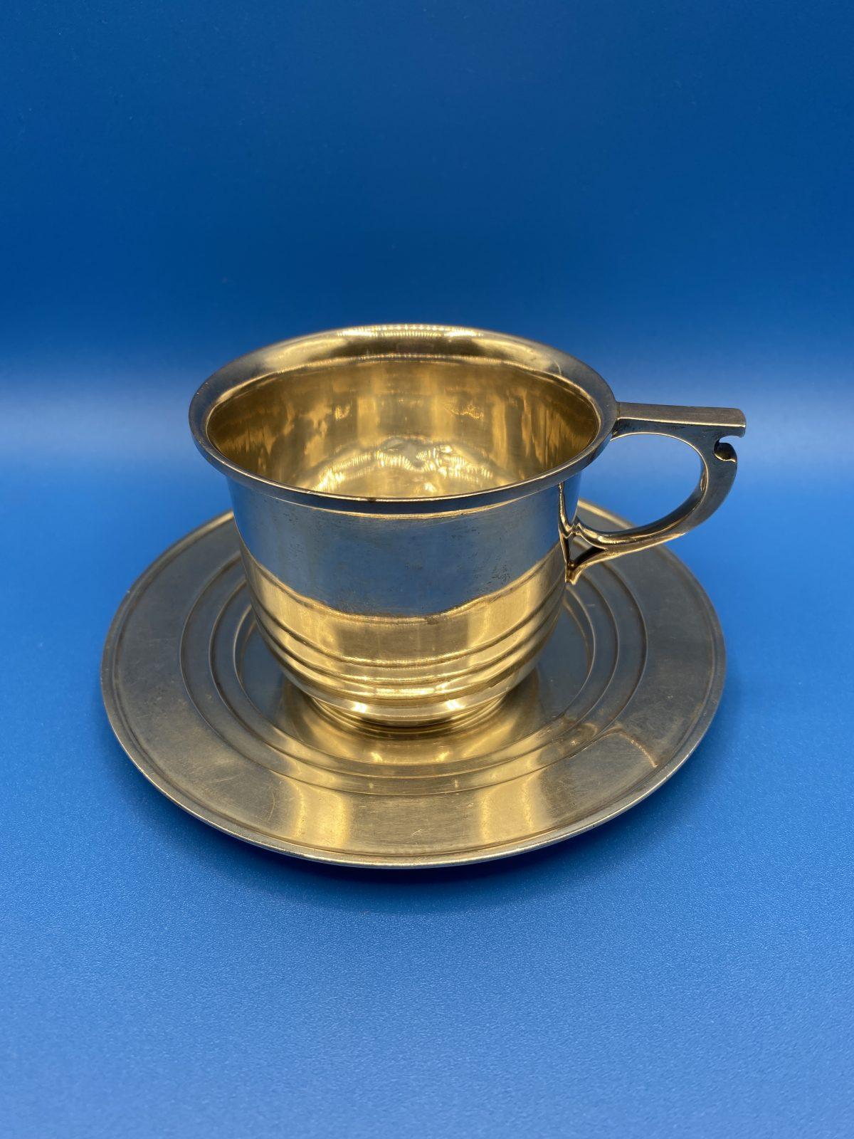G3 - A Silver Cup & Saucer by Adie Bros, Birmingham 1930.  £180