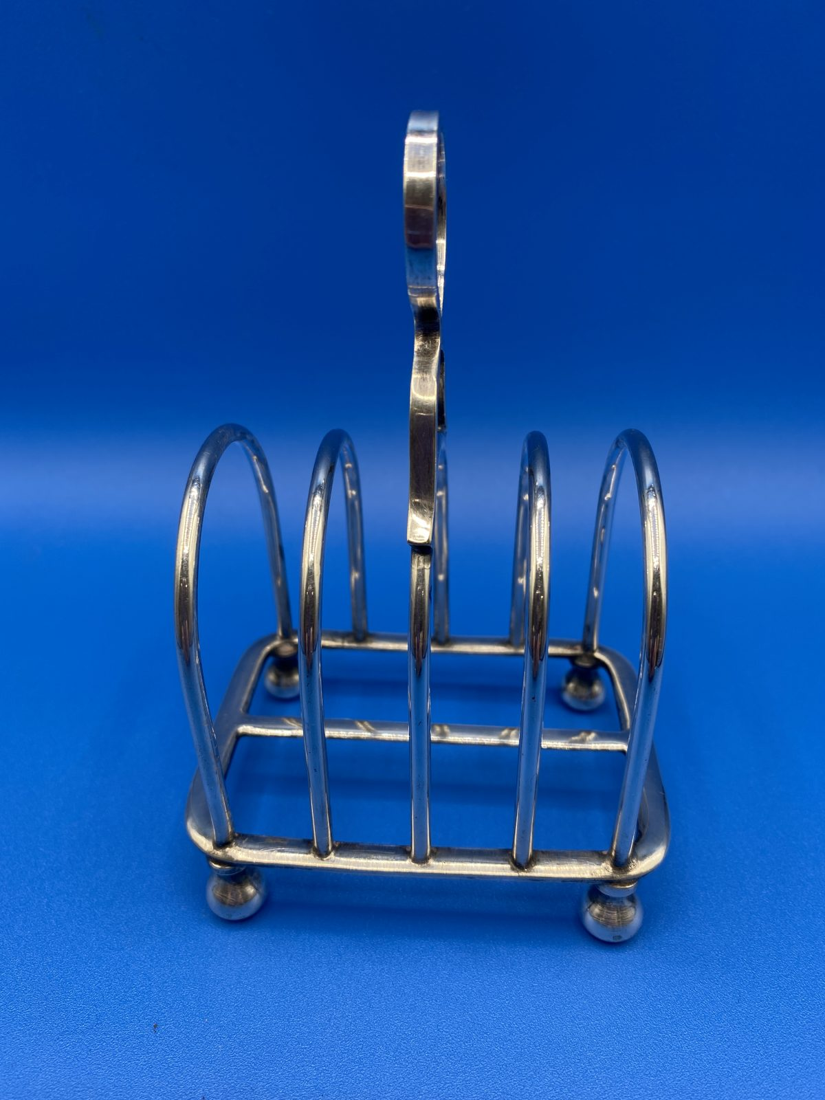 G3 - A small silver plated Toast Rack by Atkin Bros.  £28