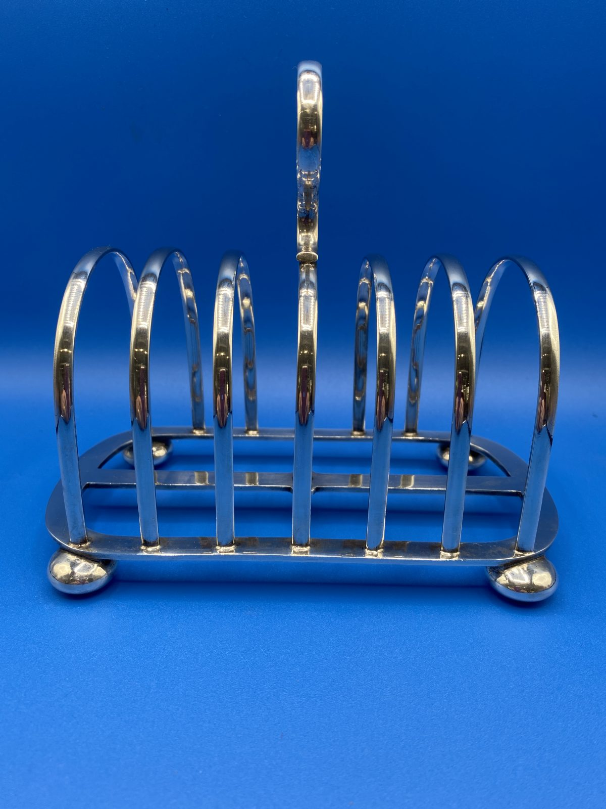 G3 - A Large Silver Plated, 6 slice Toast Rack by Walker & Hall.  £48