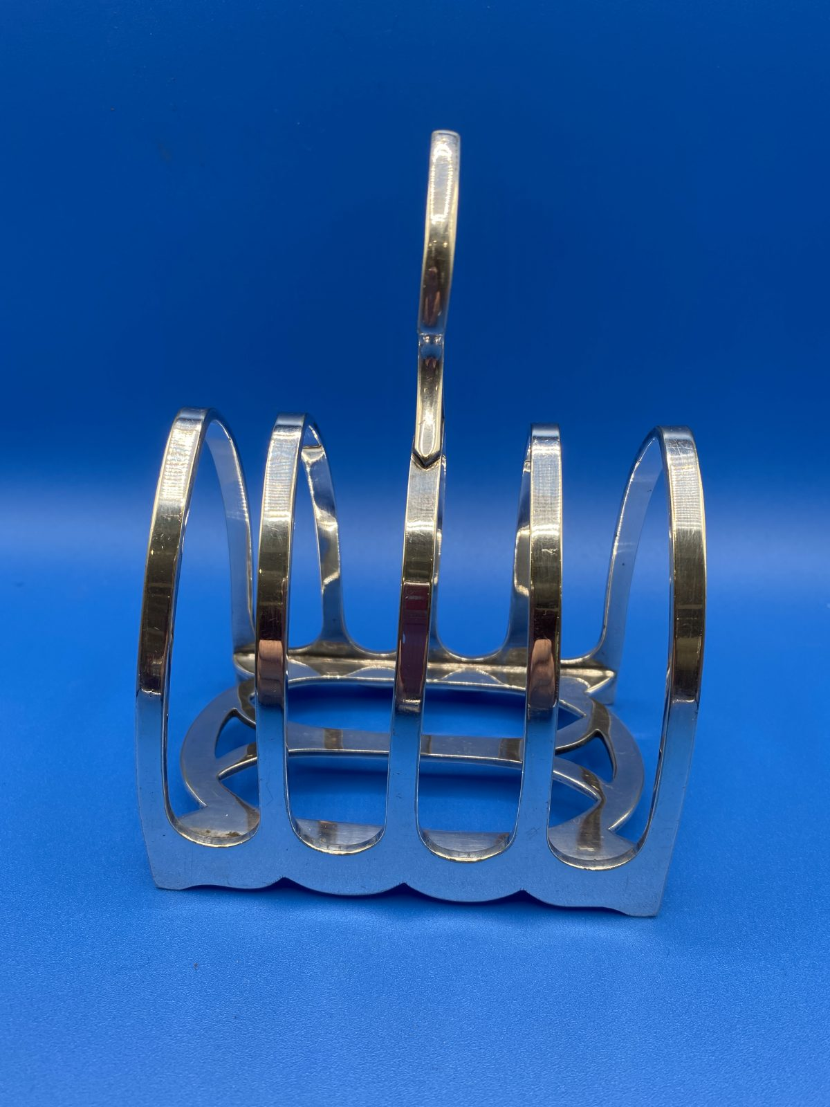 G3 - A Silver Plated Gothic Style Toast Rack by William Hutton & Sons  £44