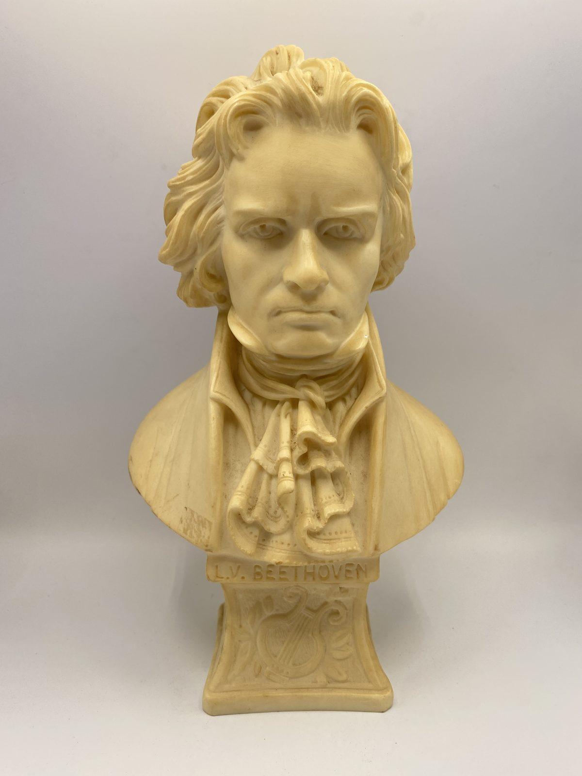 G9 - A Vintage French Alabaster Bust of Beethoven.   £42